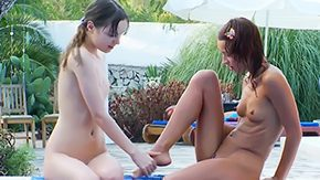 Lesb, Banging, Dildo, Gangbang, Group, Hairless