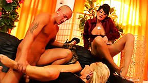 Fetish, 3some, Bitch, Blonde, Blowjob, Brunette