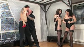 Derrick Paul, Ball Licking, Blowjob, Bodystocking, Brunette, Corset
