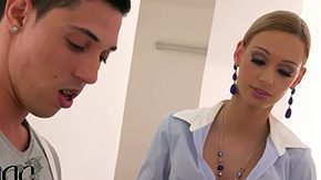 Erica Fontes, Blonde, Blowjob, Choking, Deepthroat, Double