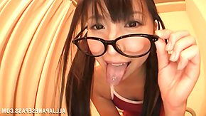 Japanese Teen, Blowjob, Cum, Cum in Mouth, Glasses, Japanese Teen