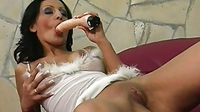 Housewife, Brunette, Close Up, Dildo, Housewife, Masturbation