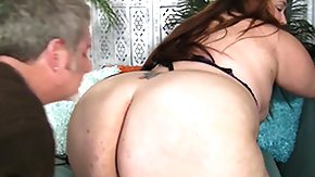 Sniffing, Ass, BBW, Blowjob, Brunette, Chubby