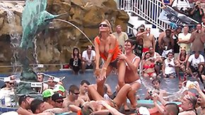 Brothel HD porn tube unspeakable debauchery at florida pool party
