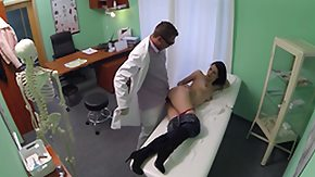 Doctor, Brunette, Doctor, Female Ejaculation, Fingering, Hardcore