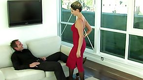 Daria Glower HD porn tube Lady in red sucking and fucking