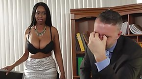 Boss, Blowjob, Boss, Ebony, Interracial, MILF