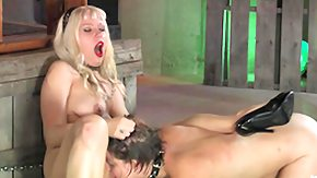Chained, BDSM, Bend Over, Blonde, Chained, Clit