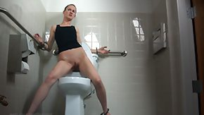 Toilet, BDSM, Brunette, MILF, Slut, Tied Up