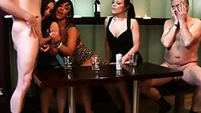 Handjob, Brunette, CFNM, Group, Handjob, High Definition