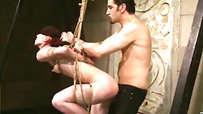 Cage, Babe, Ball Licking, Basement, BDSM, Blindfolded