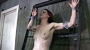 Free Tied HD porn Tied down sub washed hard and rough with broom