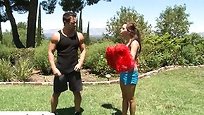 Outdoor, Blowjob, Brunette, Cheerleader, Hardcore, High Definition