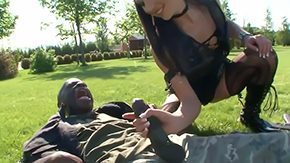 Jessica Rox, Army, Ball Licking, Blowjob, Choking, Deepthroat
