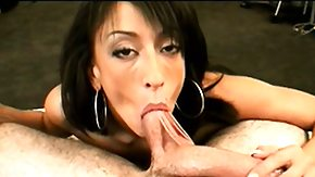 Ricki, Blowjob, Brunette, Handjob, On Her Knees, Penis