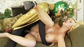 Mask, Babe, Big Tits, Blonde, Kissing, Mask