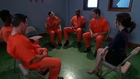 Tegan Tate HD porn tube Student Tegan Tate wants to be fucked so hard by group of non-standard cunt hungered male prisoners Pay attention to how she seduces 'em to gangbang