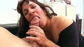 Cum Inside, Aunt, Ball Licking, Blowjob, Choking, Cougar