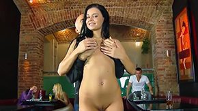 Flashing, Big Pussy, Big Tits, Boobs, Brunette, Dance