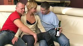 Threesome, Amateur, Anorexic, Blonde, Bottle, Cumshot