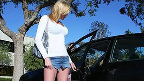 Free Victoria Vonn HD porn Stupid blonde acquires buggered by her instructor car from behind