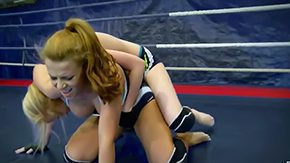 Wrestling, Babe, Banging, Blonde, Fight, Gangbang