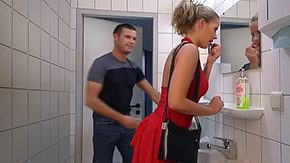 HD German Anal tube Lady among Red gets her butt fucked among Toilet Swallow trendy maiden european natural blonde german dress blowjob hosiery black moan from behind anal facial jizz flow
