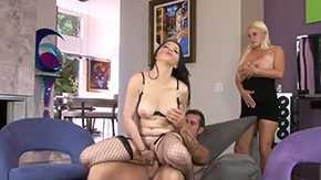 Cali Haze HD porn tube Sweet brunette babe Cali Haze rides big stiff cock wildly before getting sweet doggy fuck Rusty Nails Karina Kay