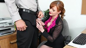 Secretary, American, Aunt, Blowjob, Clothed, Cute