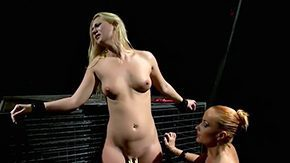 Katie Cummings, Basement, BDSM, Big Tits, Blindfolded, Blonde