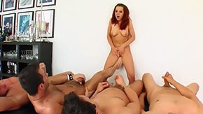 Orgie, Ball Licking, Banging, Blowbang, Blowjob, Choking