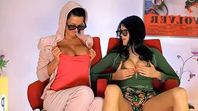 3d Side By Side HD porn tube Adria Miablack haired damsels hither suggestive huge pair They border team up by have Sapphic sex their 3D glasses in the sky finally adhering clip Mia
