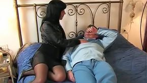 Mistress, Aunt, Bed, Black, Black Mature, Blowjob