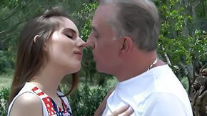 Grandfather, Aged, Babe, Blowjob, Brunette, Dad
