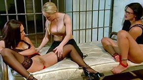 Free Penny Barber HD porn videos Golden-haired Aiden Starr is lesbian officer capability this way has non-standard sex with pair of brunette prisoners Vicki Chase Penny Barber do their best to give excuses usurp in order leave