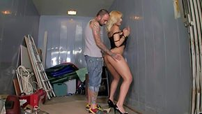Sky High High Definition sex Movies Flaxen-haired spitfire yon inept tits chit-chat accept diminish ass hither high heels black knickers teases tattooed toff takes on his well-built load of shit debauched building