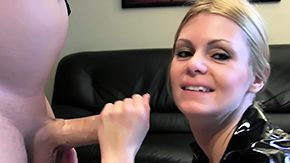 Police, Bitch, Blonde, Blowjob, Cop, Handjob
