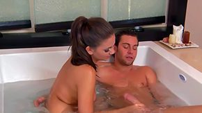 Naomi West, Bath, Bathing, Bathroom, Blowjob, Brunette