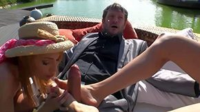 Nataly Von, 3some, 4some, Babe, Blowjob, Feet