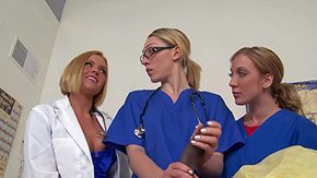 HD Nurse Handjob Sex Tube Ebony stud Prince Yahshua is aptient in the midst of hostpital purfling limits Filthy blonde nurses Amy Brooke Lily Labeu Krissy Lynn grab nasty give memorable handjob to their