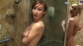 Sauna, Ball Licking, Beauty, Blowjob, Choking, Cumshot