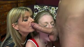 Sister, 3some, Adorable, Aunt, Ball Licking, Banging