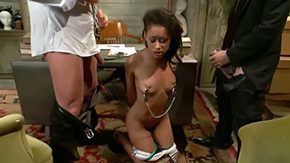 Ebony Young, 3some, Ball Kicking, Ball Licking, Ballbusting, Banging