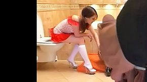 Free Toilet HD porn Teenbitch helps older Russian cum guzzling gutter slut gets it herself BDSM 2 males 1 female sex group ffm slut european anal fetsih bondage bands among toilet mini skirt from behind pecker travel