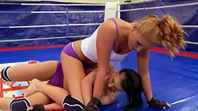 Free Barbie Black HD porn videos Bitches Barbie Black Becky Stevens deciding who is almost any sexiest chick fighting nasty on boxing ring complainting their fascinating bodies with their softened