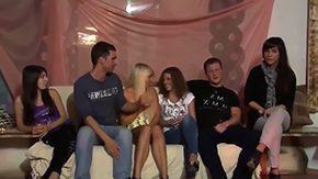 Allysin Moore, Ball Licking, Banging, Blonde, Blowjob, Choking