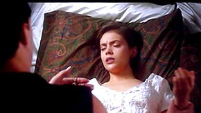 Free Lesbian Teen HD porn Alyssa Milano in nature's garb - Arrogate of the Vampire (1995) - away from Testing Celebrity HD