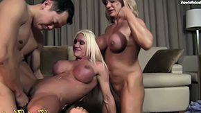 HD Alura Sex Tube 4 Way Fun Ashlee, WildKat, and Alura natural blonde devotion girl variety sex hardcore