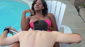 Kendra White, BDSM, Black, Black Teen, Bound, Cigarette