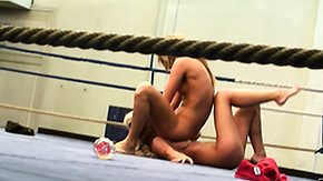 Nude, Babe, Blonde, Brunette, Fight, Lesbian